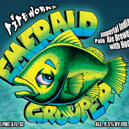 Pipeworks Emerald Grouper beer Label Full Size