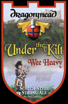 Dragonmead Under the Kilt Wee Heavy beer Label Full Size