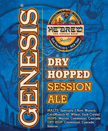 He'Brew Genesis Dry-Hopped Session Ale beer Label Full Size