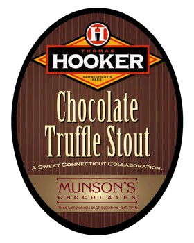 Thomas Hooker Chocolate Truffle Stout beer Label Full Size