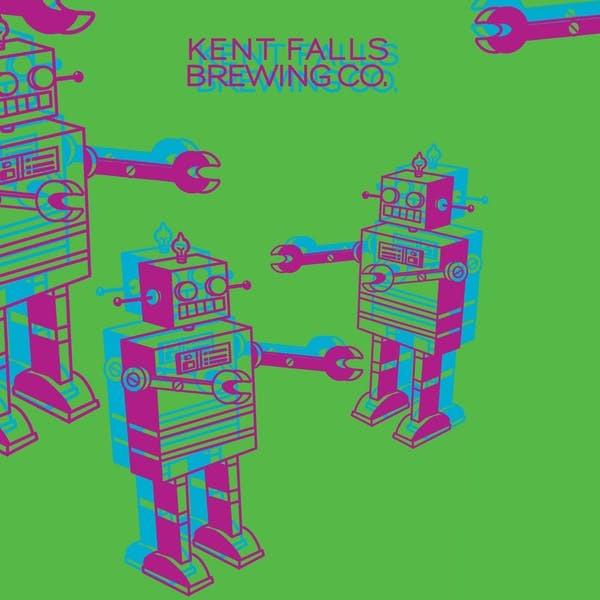 Kent Falls Doubly Awkward Hug beer Label Full Size