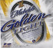 Michelob Golden Light beer Label Full Size