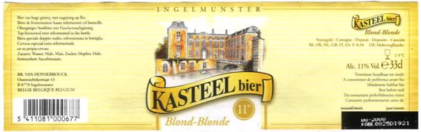 Kasteel Blond beer Label Full Size