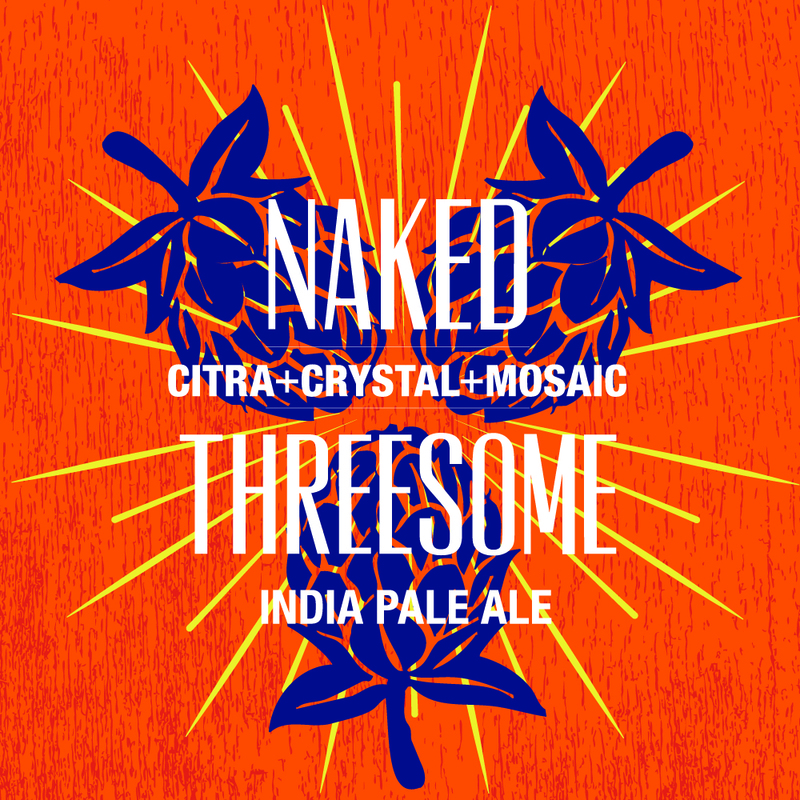 Raised Grain Naked Threesome beer Label Full Size