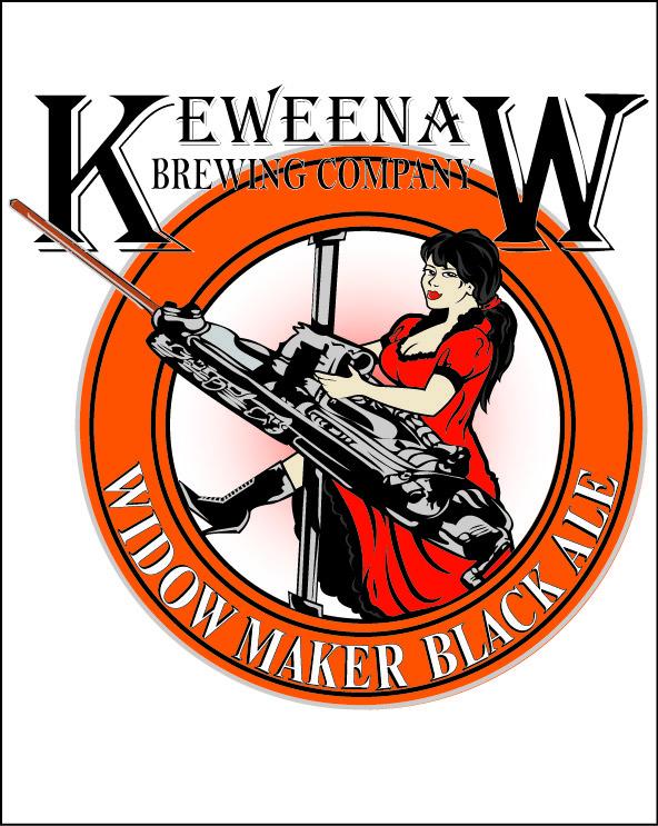 Keweenaw Widow Maker beer Label Full Size