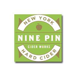 Nine Pin NY Dry Hopped Cider beer Label Full Size
