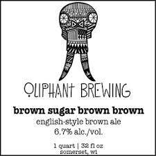 Oliphant Brown Sugar Brown Brown beer Label Full Size