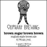 Oliphant Brown Sugar Brown Brown beer