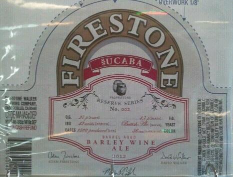 Firestone Walker Sucaba beer Label Full Size