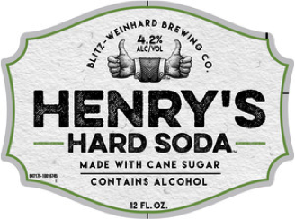 Henry's Hard Cherry Cola beer Label Full Size