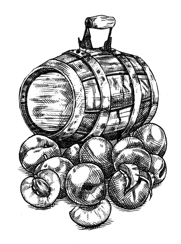 Millstone Oud Plum beer Label Full Size