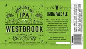 Westbrook IPA beer Label Full Size
