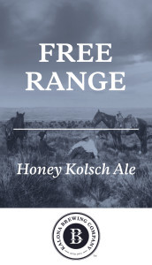 Kalona Free Range Honey Kolsch beer Label Full Size