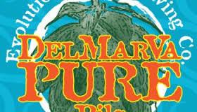 Evolution DelMarVa Pure Pils beer Label Full Size