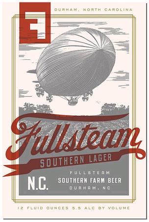 Fullsteam Southern Lager beer Label Full Size