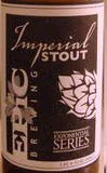 Epic Imperial Stout beer