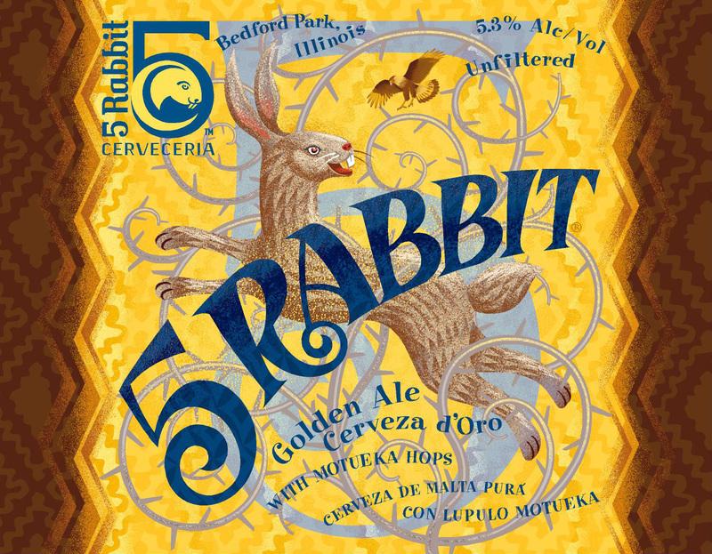 5 Rabbit 5 Rabbit beer Label Full Size