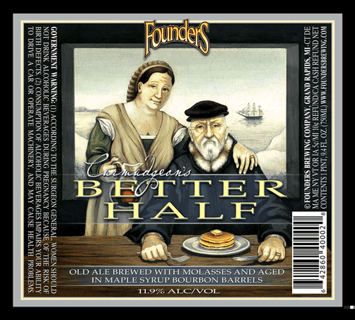 Founders Curmudgeon's Better Half beer Label Full Size