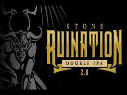 Stone Ruination 2.0 DIPA beer Label Full Size