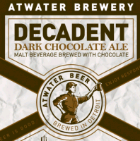 Atwater Decadent Dark Chocolate Ale beer Label Full Size