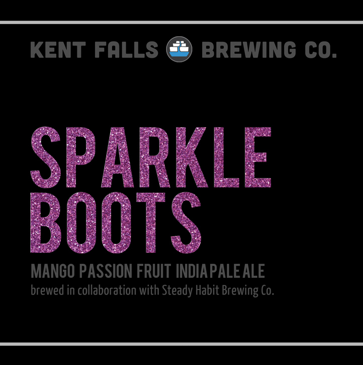 Kent Falls Sparkle Boots beer Label Full Size