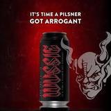 Arrogant Who You Callin' Wussie beer