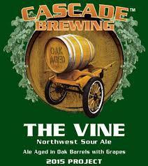 Cascade The Vine 2015 beer Label Full Size