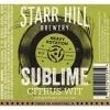 Starr Hill Sublime citrus wit Beer