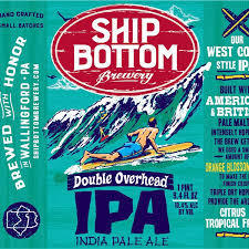 Ship Bottom Double Overhead IPA beer Label Full Size