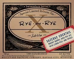 Boulevard Rye-on-Rye X Sazerac Cocktail beer Label Full Size