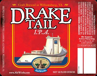 AleWerks Drake Tail Ale beer Label Full Size