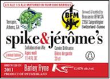 Terrapin BFM Spike and Jerome's Cuvee Delirante beer