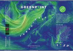 Greenpoint Turbulence beer Label Full Size