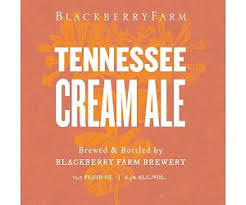 Blackberry Farm Tennessee Cream Ale beer Label Full Size