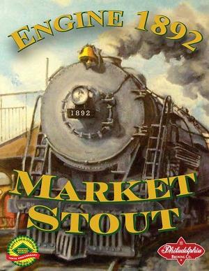 Philadelphia Engine 1892 Market Stout beer Label Full Size