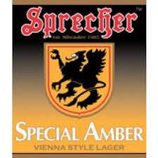 Sprecher Special Amber beer Label Full Size