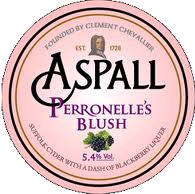 Aspall Perronelle's Blush Cider beer Label Full Size