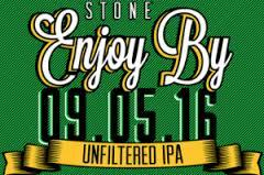 Stone Enjoy By 09.05.16 Unfiltered IPA beer Label Full Size