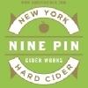 Nine Pin Peach Tea beer Label Full Size
