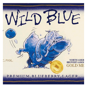 Wild Blue Blueberry Lager beer Label Full Size