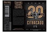 Stone 20th Anniversary Citracado IPA beer