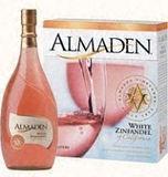 Almaden White Zinfandel wine
