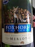 Foxhorn Merlot wine