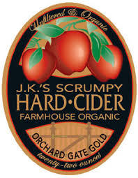 JK Scrumpy Organic Cider beer Label Full Size