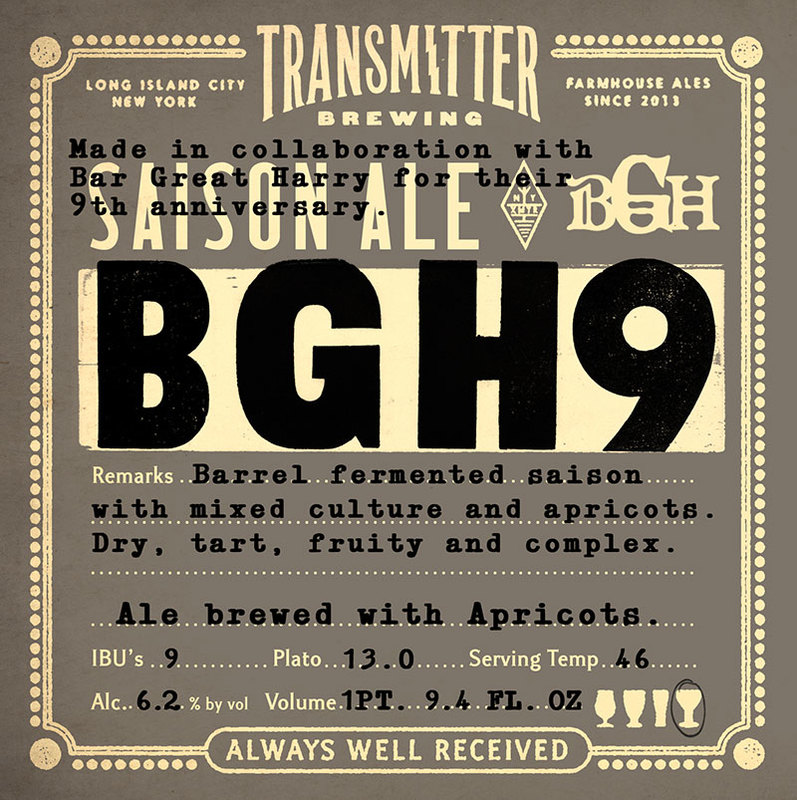 Transmitter BGH9 beer Label Full Size