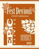 Epic Fest Devious Marzen beer