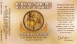 "Captain Lawrence ""Flaming Fury"" Sour Peach Ale Beer"