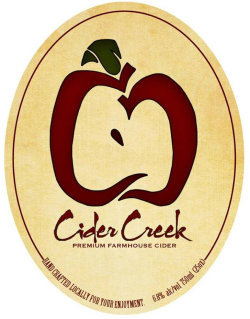 Cider Creek Cran-Mango Saison beer Label Full Size