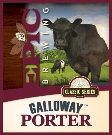 Epic Galloway Porter beer Label Full Size