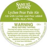 Sam Adams Lychee Pear Pale Beer